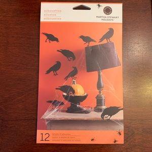 MARTHA STEWART Crow Silhouettes 12 Pc
